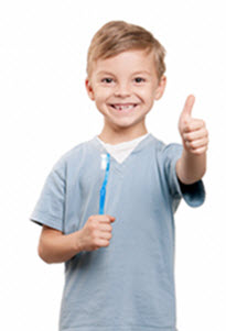 Kid with Thumbs Up